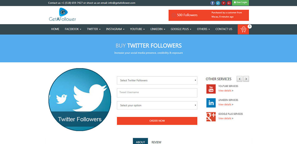 GetAFollower Twitter Followers Review