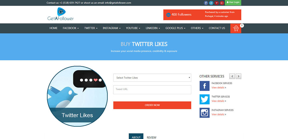 GetAFollower Twitter Likes Review